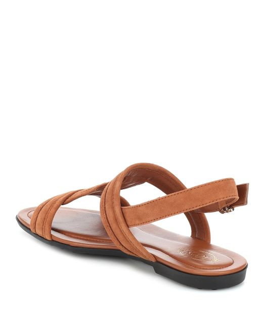 Tod's Women's Brown Suede Sandals