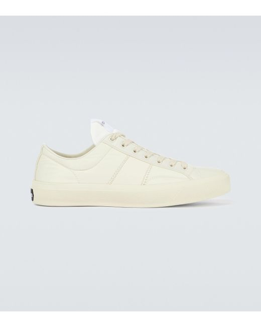 Tom Ford White Cambridge Leather Sneakers for men