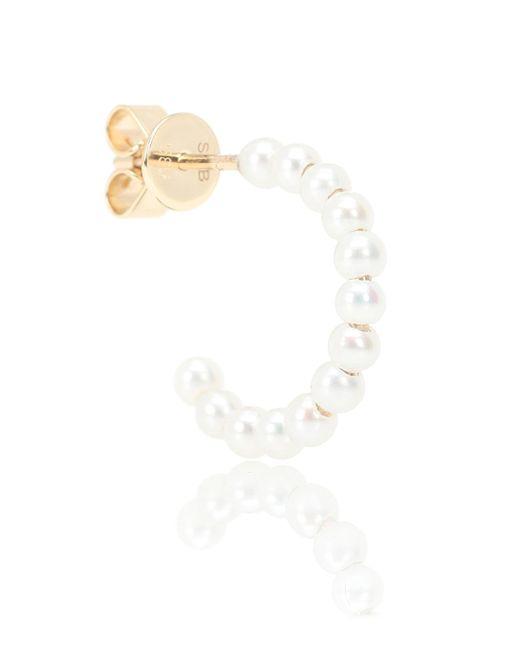 Sophie Bille Brahe White Marco 14kt Gold Pearl Single Earring