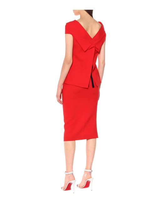 Roland Mouret Red Top Raywell aus Wolle