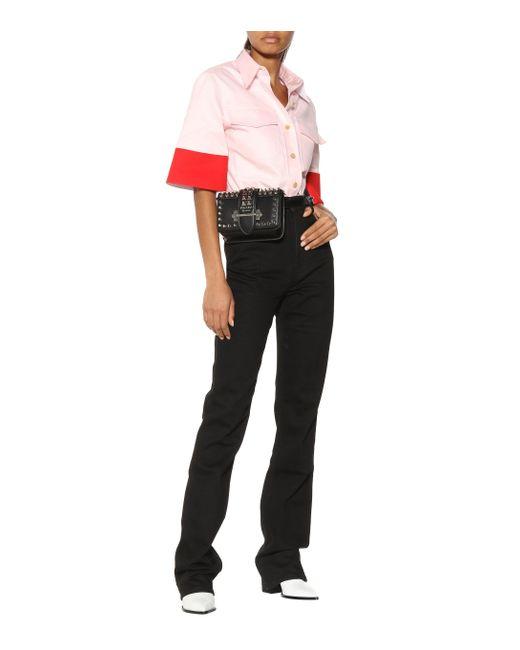 CALVIN KLEIN 205W39NYC Red Hemd mit 3/4-langen Ärmeln