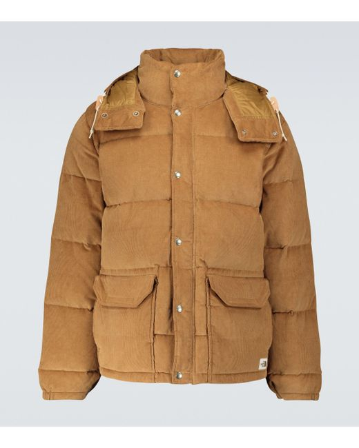 The North Face Brown Sierra Down Corduroy Parka Jacket for men