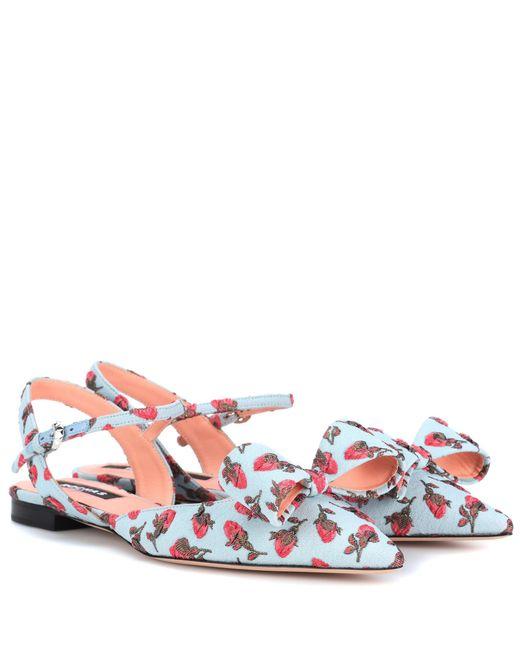 Rochas Brocade ballerinas Collections Sale Online Best Store To Get Sale Online aow8kPP