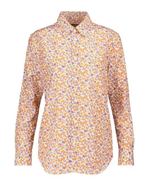 Camicia Gina a stampa floreale in misto seta di A.P.C. in Orange