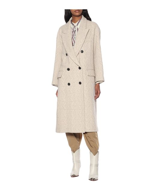 Étoile Isabel Marant Natural Ojima Wool-blend Coat