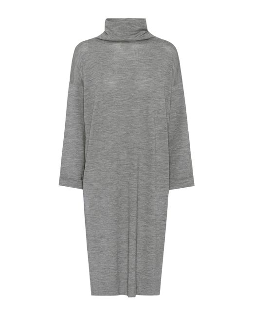 Brunello Cucinelli | Gray Wool And Cashmere Sweater Dress | Lyst