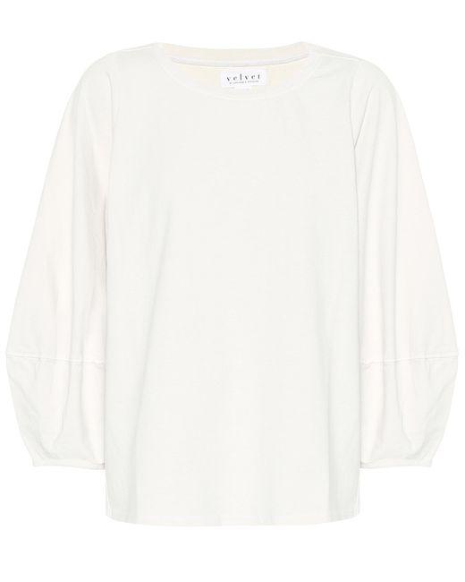 Velvet White Jenica Cotton Top