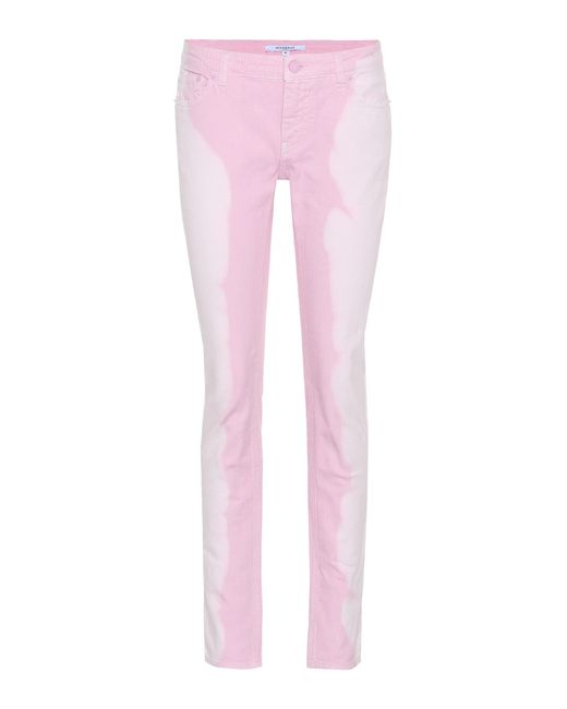 Givenchy Pink Low-rise Skinny Jeans
