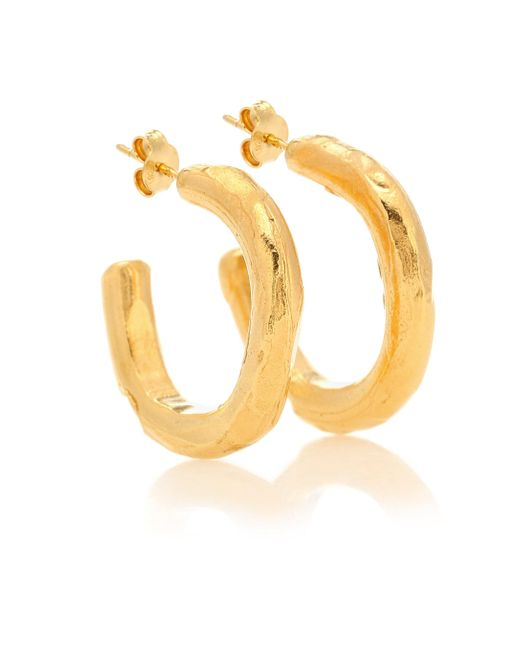 Alighieri Yellow The Etruscan Reminder 24kt Gold-plated Hoop Earrings