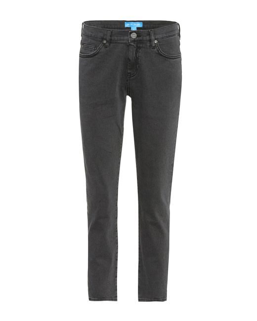 MiH Jeans - Gray Tomboy Mid-rise Cropped Jeans - Lyst