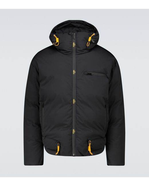 Fendi Skijacke aus Tech-Material in Black für Herren