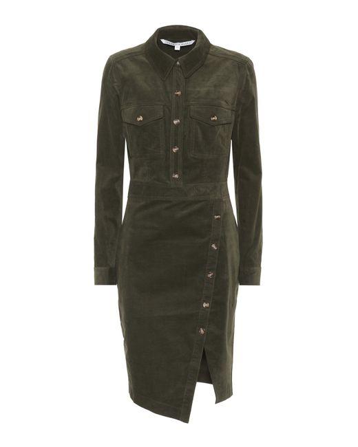 Veronica Beard | Green Britton Corduroy Dress | Lyst