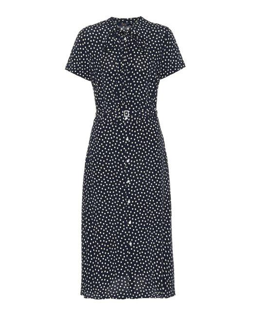 Polo Ralph Lauren Black Hemdblusenkleid mit Polka-Dots