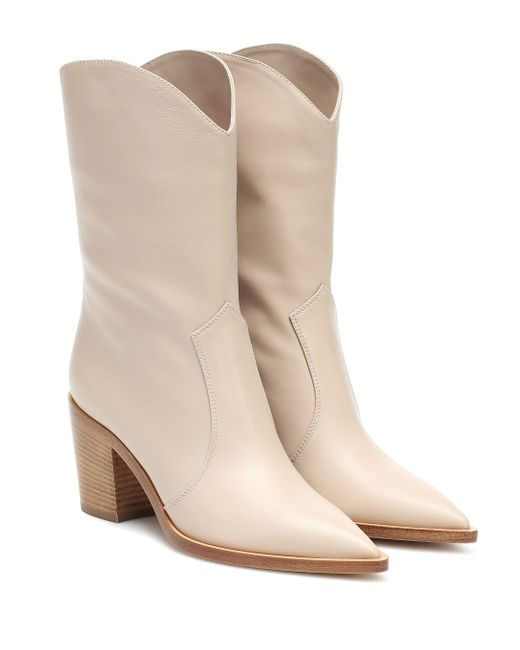 Gianvito Rossi Natural Ankle Boots aus Leder