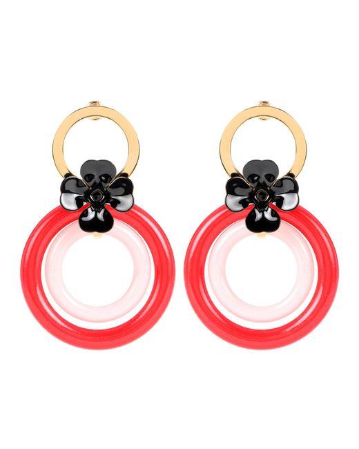 Marni | Red Hoop Earrings | Lyst
