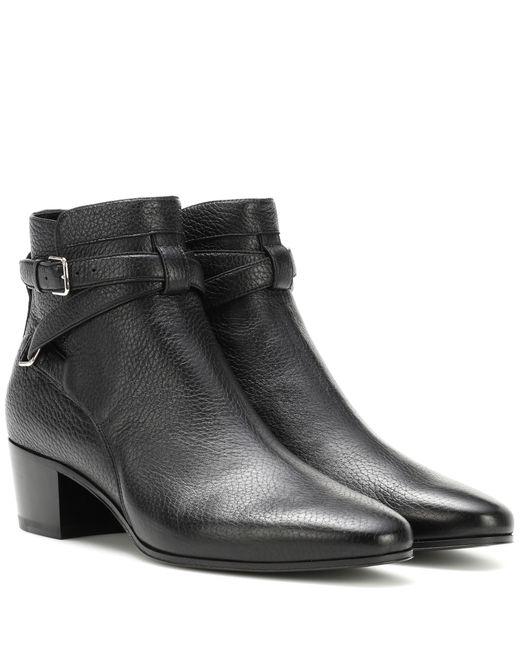 Saint Laurent - Black Blake 40 Jodhpur Leather Ankle Boots - Lyst