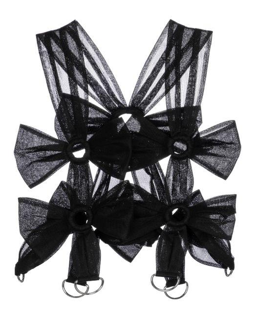 Noir Kei Ninomiya Black Tulle Crop Top