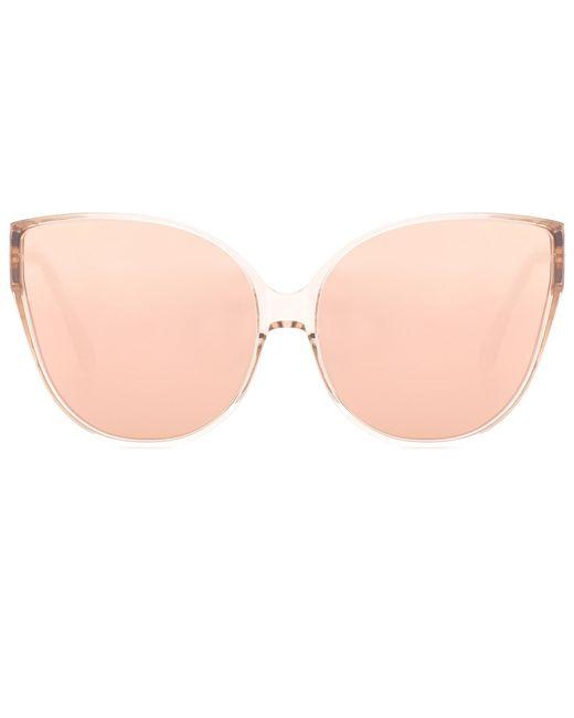 Linda Farrow   Pink Oversized Cat-eye Sunglasses   Lyst