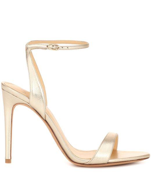 Alexandre Birman Santine 100 Leather Sandals in Gold ...
