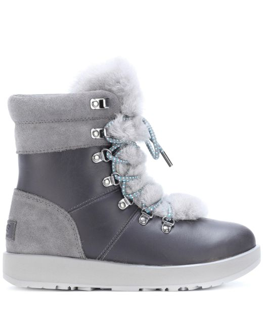 66009fe991f Women's Gray Viki Waterproof Leather Ankle Boots