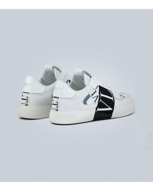 Sneaker Slip-on Vl7n In Vitello E Nastri di Valentino in White