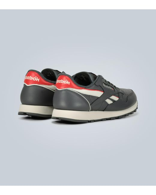 Reebok Gray Classic Leather Sneakers for men