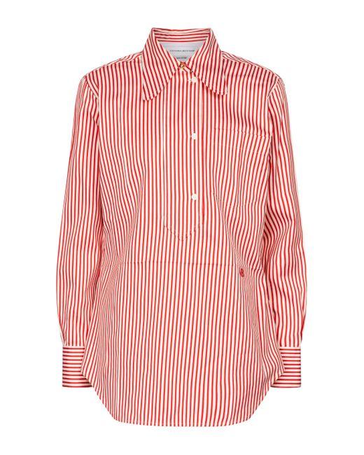 Victoria Beckham Red Striped Cotton-blend Shirt