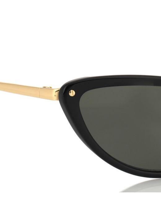 Linda Farrow Women's Black 709 C1 Cat-eye Sunglasses