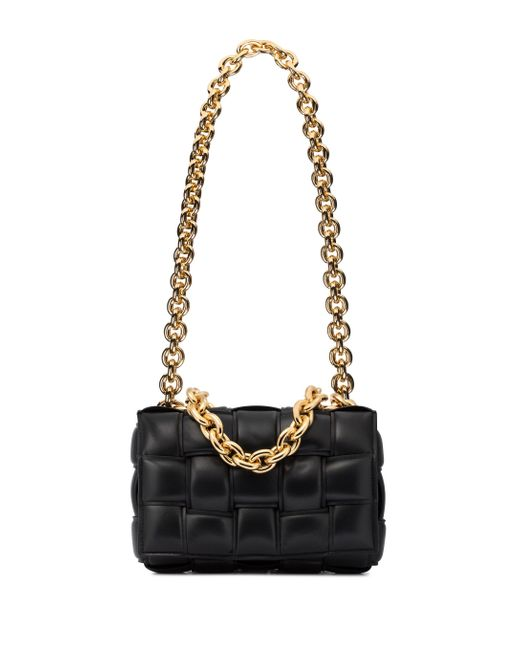 Sac The Chain Cassette en cuir Bottega Veneta en coloris Black