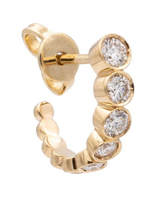 Sophie Bille Brahe Metallic Petite Boucle Ensemble 18kt Gold Single Earring With Diamonds