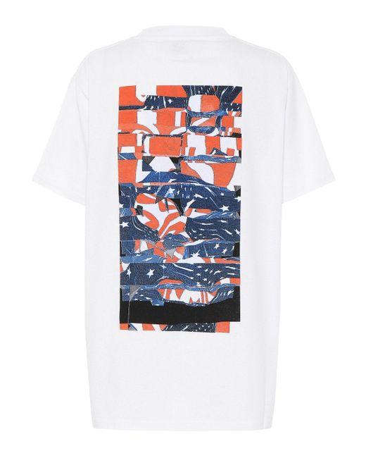 1017 ALYX 9SM Camiseta Collage de mezcla de algodón de mujer de color blanco