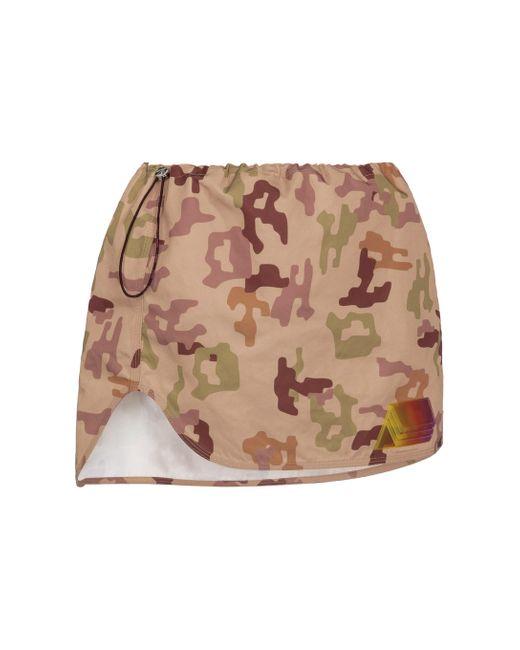 The Attico Natural Giana Camouflage Miniskirt