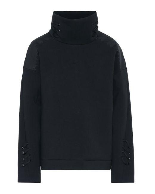 Felpa in misto cotone stretch di Nike in Black