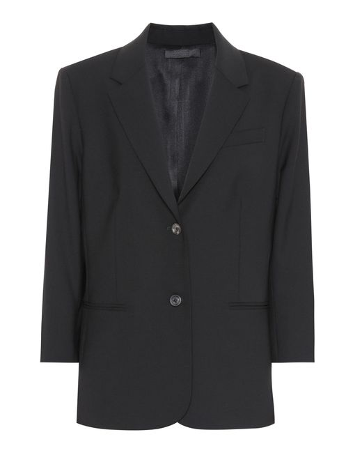 Blazer Schoolboy de lana elástica The Row de color Black
