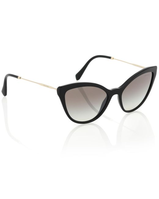 Miu Women's Black Cat-eye Sunglasses