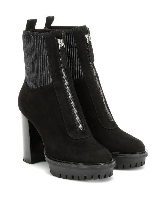 Gianvito Rossi Black Ankle Boots Mason