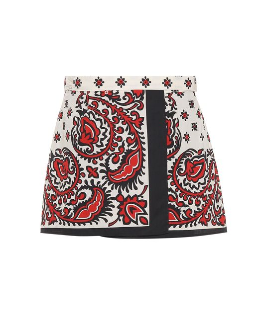 RED Valentino Red Printed Cotton Shorts