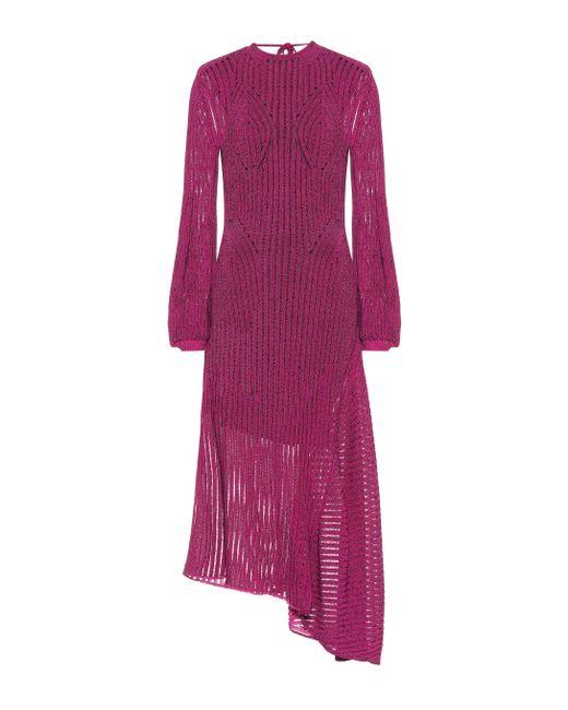 Vestido de punto de algodón Chloé de color Purple