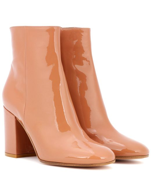 Gianvito Rossi - Natural Exclusive To Mytheresa. Com – Rolling 85 Patent Leather Ankle Boots - Lyst