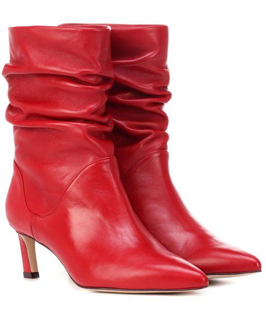 Botines de piel Demibenatar Stuart Weitzman de color Red