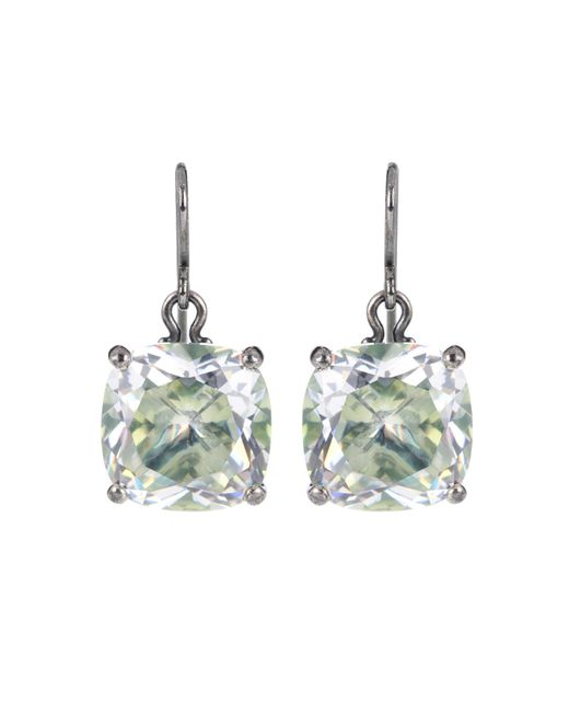Bottega Veneta - Metallic Cubic Zirconia Earrings - Lyst