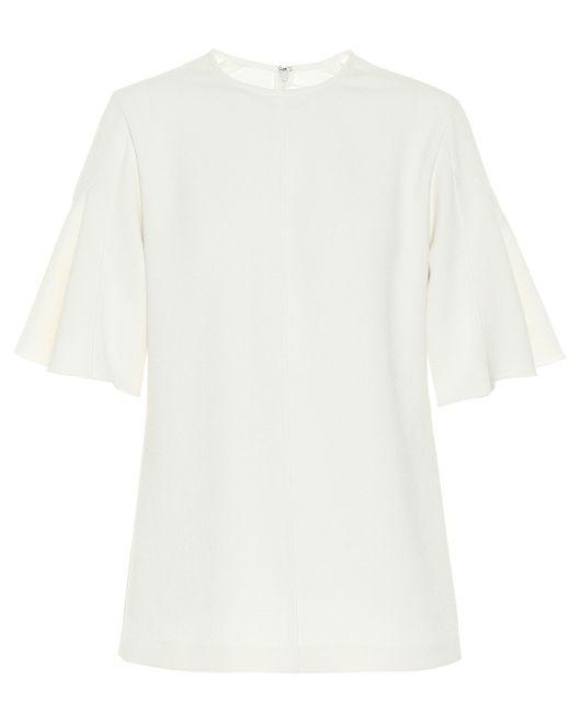 Victoria, Victoria Beckham Top oversized de mujer de color blanco 3W0Y3