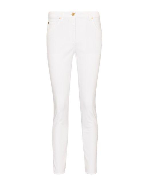 Brunello Cucinelli White Mid-rise Skinny Jeans
