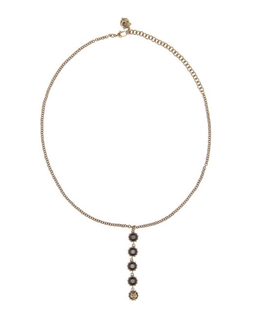 Gucci - Metallic Crystal-embellished Necklace - Lyst