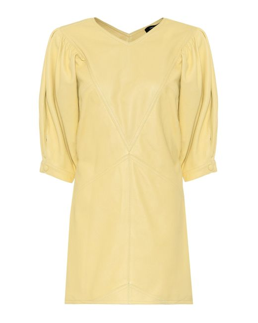 Isabel Marant Yellow Minikleid Xadela aus Leder