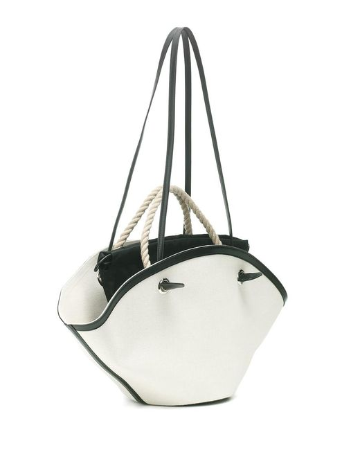 Esclusiva Mytheresa - Borsa Sombrero Medium in lino di Jil Sander in Natural