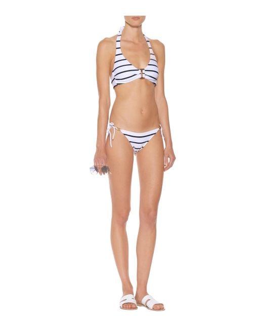 Heidi Klein Women's White Core Nautical Bikini Top