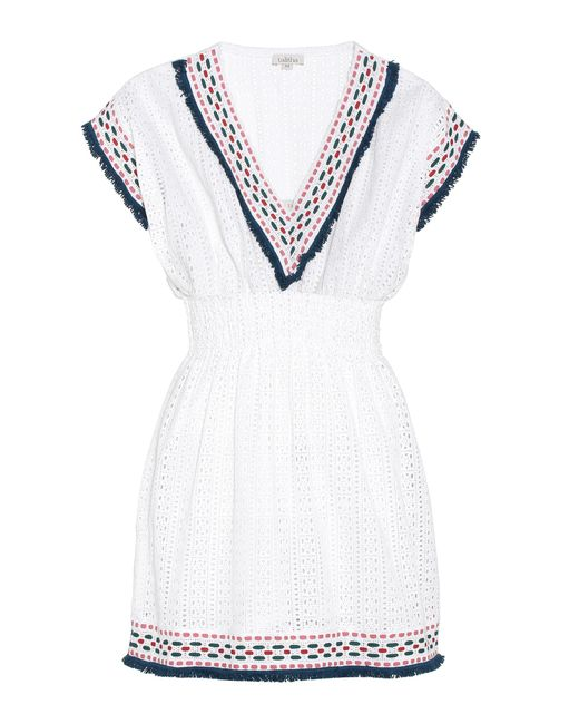 Talitha - White Cotton Eyelet Dress - Lyst