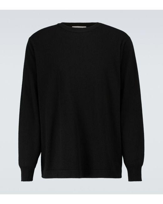 The Row Black Diatton Cashmere Crewneck Sweater for men