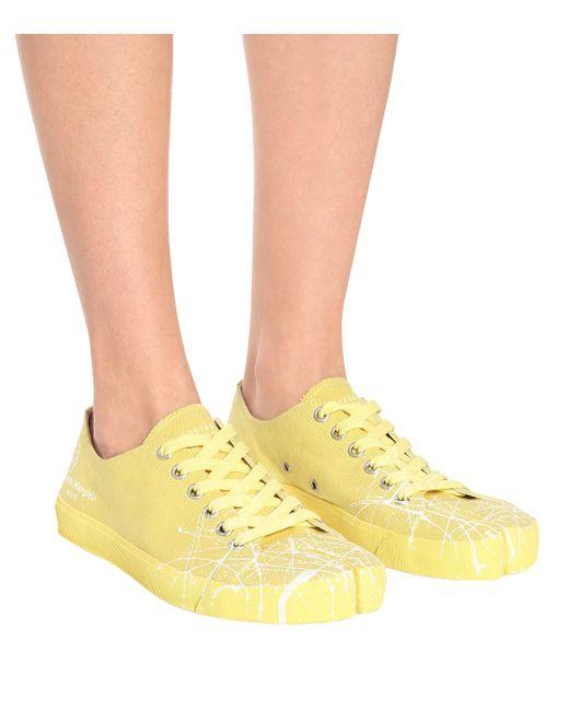 Maison Margiela Zapatillas Tabi De Lona Mujer Color Amarillo RjrtI